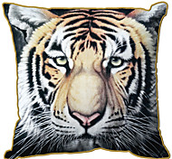 Velvet Pillow Cover , Animal Print Retro