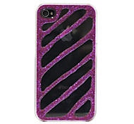 Shinning Stripe Pattern Hard Case for iPhone 4/4S (Purple)