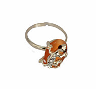 Mignon alliage Zircon Opale Bague motif Gecko (couleurs assorties)