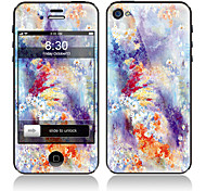 Exquisite Flower Pattern Front and Back Full Body Protector Stickers for iPhone 5