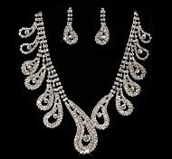 High High Quality Blue and Clear Rhinetone Wedding Jewelry et