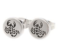 8 mm Scorpion Symbol Stainless Steel Stud Earrings
