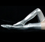 Silver Shiny Metallic Stockings