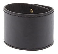 Contracted Wide Version Metal Leather Bracelet