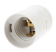 E27 Base Bulb Socket Lamp Holder (White)