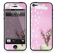 """Codice Da ™ Pelle per iPhone 4/4S: """"Raining Flower"""" (Piante Serie)"""
