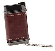 Leather Cover Windproof Gas Lighter