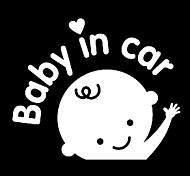 Waving Baby In Car Pattern Car Decorative Sticker