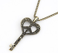 Vintage Alloy Hollow-out Key Pattern Necklace
