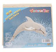 DIY di legno 3D Dolphin Style Puzzle (2 pezzi)