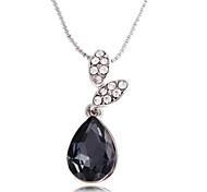 Zircon Crystal Drop Pattern Necklace