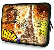 """""""Motif Tour Eiffel"""" Cas de modèle étanche à manches longues pour 7 """"/ 10"""" / 11 """"/ 13"""" / 15 """"pour ordinateur portable et Tablet"""