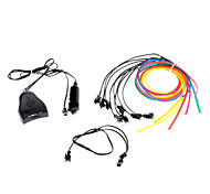 3 Meter Flexible Car Decorative Neon Light 4mm EL Wire Rope with Sound Activated