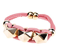 Fashionable Pyramid PU Bracelet