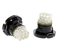 Ampoule pour lampe de bord de voiture (12V DC, 1 paire) T4.7 lumière froide LED blanche