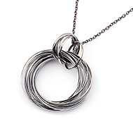Punk Style Alloy Circle Pendant Necklace(Assorted Colors)