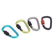 D-shaped 6mm Aluminum Alloy Locking Carabiner
