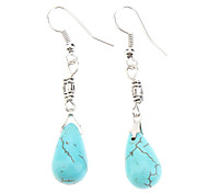 Small Water Droplets Turquoise Earrings