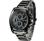 Men's Business Style Black Alloy Quartz Wrist Watch Cool Watch Unique Watch