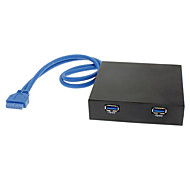 2-Port USB 3.0 Hub Floppy Drive Front Panel (0.4M)