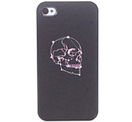 Modello del cranio Custodia rigida viola per iPhone 4/4S