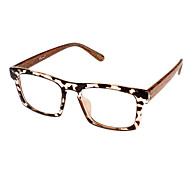 Unisex Transparent Lens Cat Eye Eyeglasses (Random Color)