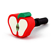3.5mm reizender Apple-Pattern Anti-Staub Stecker-(Random Colors)