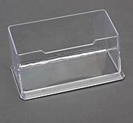 Transparente Kunststoff-Visitenkarte-Halter (zufällige Farbe)