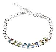 Nine Rows Of Eighteen Diamond Sterling Silver Bracelet