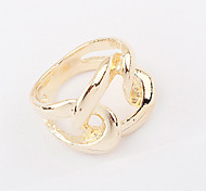 Punk Style Gold Plated Alloy Hollow-out Ring