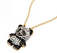 Cute Alloy Zircon Panda Pattern Necklace