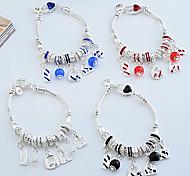 Lureme®Fashion Silver Plated Multi Beads Charm Bracelet
