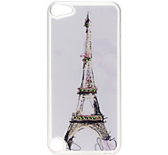 Eiffel Tower Pattern Hard Case with Rhinestone for iPod Touch 5