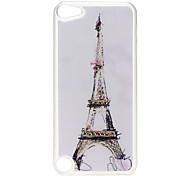 Torre Eiffel Caso duro del modello con strass per iPod Touch 5