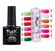 1PCS Soak-off UV Color Gel No.61-No.72 (10ml, farbig sortiert)
