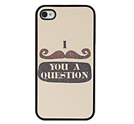 Leather Mustache Pattern Hard Case for iPhone 4/4S