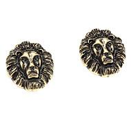 Lion's Head Shaped Earrings