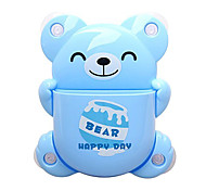 Cartoon Bear Pattern Toothbrush Holder with Suction Cup(Random Color)