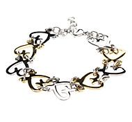 Coeur creux composite en acier inoxydable double de bracelet de couleur