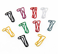 """7"" Shape Metal Paper Clips (10PCS Random Color)"