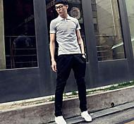 Casual colore solido Pantaloni a sigaretta Uomo