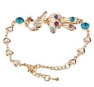 High-grade Vintage Crystal Peacock Bracelet