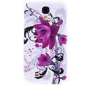 Lila Blume Muster weichen TPU Tasche für Samsung Galaxy i9500 S4