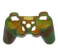 Protección Dual-Color Style Funda de silicona para PS3 controlador (verde del ejército y la Red)