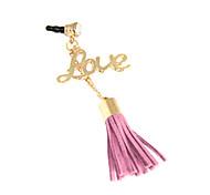 Love Alloy Chain Woolen Tassel Anti-Dust Plug (Random Color)