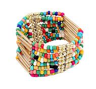 Alliage Bracelet en perles multi-rangs de style bohème (couleurs assorties)
