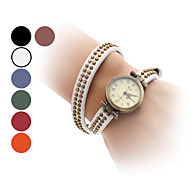 Dames Modieus horloge Kwarts Band Bangle armband Zwart / Wit / Blauw / Rood / Orange / Bruin / Groen Merk-