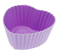 Heart Shaped Colorful Silicone Cup Cake Mould (Random Color)
