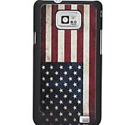 Vintage US Flag Pattern Hard Case for Samsung Galaxy 2 I9100