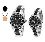 Pair of Quartz Alloy Analog Couple's Wrist Watch (Assorted Colors)